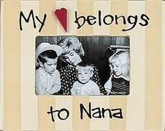 My Heart Belongs to Nana Picture Frame