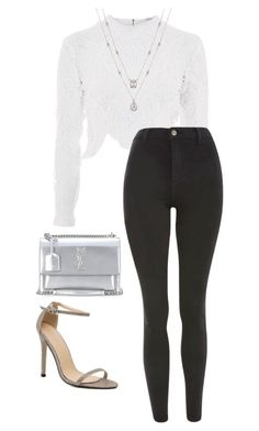 """Untitled #816"" by petitaprenent on Polyvore featuring Glamorous, Topshop and Yves Saint Laurent"
