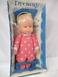 """Rare Vintage 14"""" DROWSY Doll by Mattel 1970-75 New in Cradle Box doesn't talk.nt 