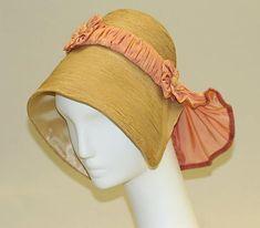 Bonnet Date: 1830s Culture: American Medium: straw