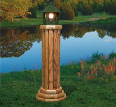 The Winfield Collection - Landscape Timber Lighthouse Plan Landscape Timber Crafts, Landscape Timbers, Landscape Design, Outdoor Crafts, Outdoor Projects, Winfield Collection, Wooden Crosses, Diy Wood Projects, Wood Crafts