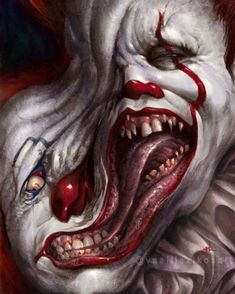 The Thing / Pennywise the Clown. Good Clowns, Evil Clowns, Funny Clowns, Art Zine, Pennywise The Dancing Clown, Creepy Clown, Arte Horror, Clown Horror, Funny Horror