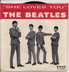 "She Loves You"" is the only song that The Beatles played on both of their appearances on The Ed Sullivan Show -February and The Beatles, Beatles Singles, Beatles Art, John Lennon Beatles, Beatles Album Covers, Beatles Albums, Music Covers, Ringo Starr, George Harrison"
