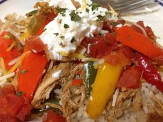 Healthy Chicken Fajita Bowls - 21 Day Fixed Approved