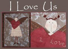 """"""" I love Us""""   Quilts ontworpen door Atelier Bep   Atelier Bep"""