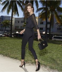 Our fashion-forward jean legging. #Express just love an all black look!