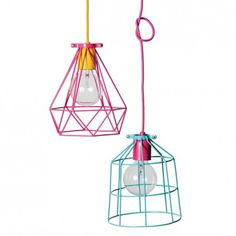 Lark Store / Geometric Wire Light Shades make into a lamp? Perth, Retro Kitchen Accessories, Pendant Light Fitting, Kids Lamps, Neon Party, Big Girl Rooms, Kids Decor, Home Decor, Light Fittings