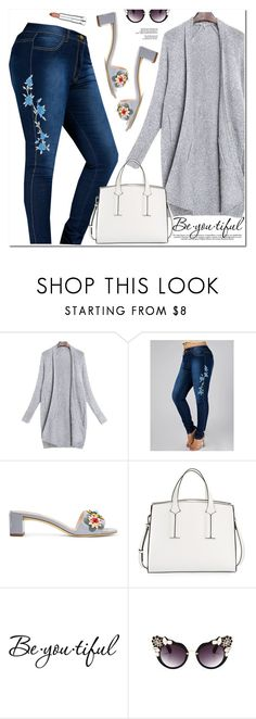 """""""Beautiful Look"""" by oshint ❤ liked on Polyvore featuring Fendi, French Connection, Schone and Maybelline"""
