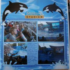 Sea World scrapbook page