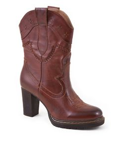 Look at this Roper Brown Burnished Boot on #zulily today!