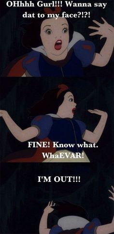 Snow White Memes, Funny Jokes About Disney Animated Movie Sassy Snow White Jokes & Memes (LOL! Humour Disney, Funny Disney Memes, Disney Jokes, Funny Jokes, Disney Pixar, Hilarious, Funny Memes About Girls, It's Funny, Disney Mickey