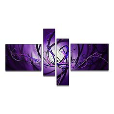 - Description - Why Accent Canvas? This exquisite Purple Glow Canvas Wall Art Abstract Oil Painting is 100% hand-painted on canvas by one of our master artists. Each artists begins with a blank canvas