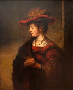 Saskia Rembrandt van Rijn, 1635. Via Wikipedia.