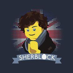 Legosaurus — Sherblock Holmes Created by Jason Thomas Sherlock Holmes, Benedict Cumberbatch Sherlock, Lego Figures, Arthur Conan Doyle, Many Faces, Bart Simpson, Detective, Tv Series, Hogwarts