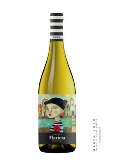 Cool #wine #label #design from Galicia (Spain) Marta Lojo pinned with Pinvolve