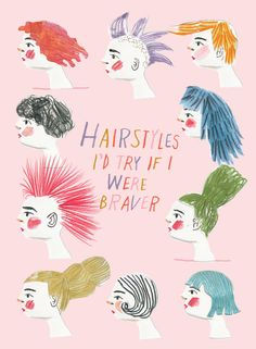 penelope dullaghan - hairstyle illustrations