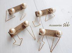 cotton pearl motif frame pierce | HandMade in Japan 手仕事の新しいマーケットプレイス iichi