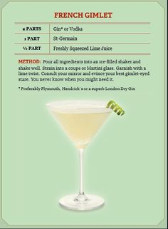French gimlet. Or, use rosemary simple syrup instead of the St. Germaine.
