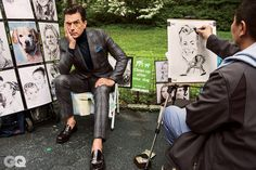 Stephen Colbert's Smoking Suit Style | GQ