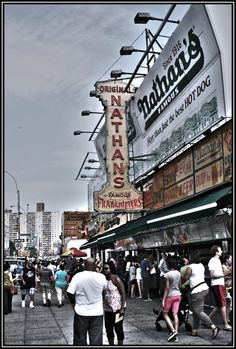 The famous Coney Island in Brooklyn, NY.  Home of the renowned Nathan's hot dog. THE BEST