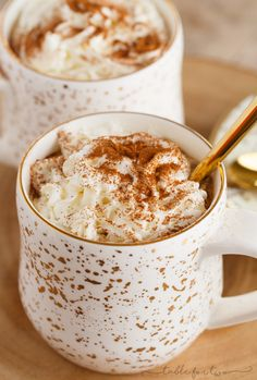 Spicy Gingerbread Lattes - Extra spicy gingerbread lattes will bring you holiday cheer and warmth!