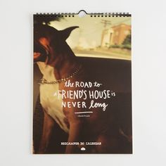 """2015 Wanderlust Calendar: 12 of our best inspirational travel thoughts paired with vintage vacation snapshots. Reflect on the spirit of adventure and travel while you plan your next trip to the Smokey Mountains, or your gramma's house, or the dentist. Beautifully printed and ready to hang for the year of 2015.  Printed in Denver, Colorado, U.S.A.  Size: 13""""x9"""""""