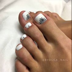 Simple Nail Art Designs That You Can Do Yourself – Your Beautiful Nails Simple Toe Nails, Cute Toe Nails, Super Cute Nails, Toe Nail Art, Pretty Nails, Pedicure Designs, Toe Nail Designs, Nail Art Pieds, Hair And Nails