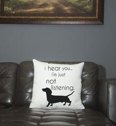 Pillow- Dachshund- not listening #dachshund