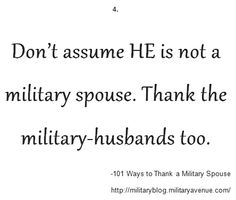 101 Ways to Thank a Military Spouse