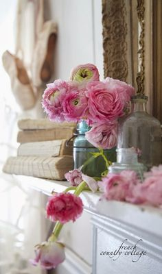 french-country-cottage-flowers-vintage