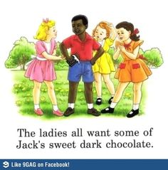The ladies all want some of jacks sweet dark chocolate
