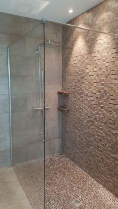 Paroi de douche fixe Rothalux avec fixations mural coté