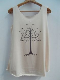 LOTR White Tree Gondor Shirts Tank top Pop Punk Rock Tank Top Vest  unisex T shirt lady T-Shirt SizeS,M,L