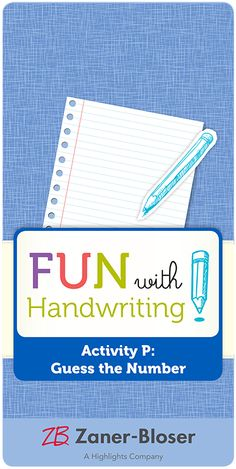 Small-group number practice for writing and thinking. Zaner Bloser Handwriting, Handwriting Activities, Small Groups, Number, Learning, Fun, Writing Activities, Studying, Teaching