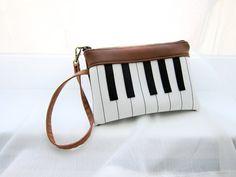 Piano Wristlet Purse