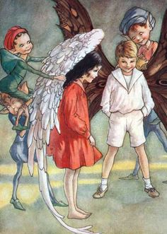 Fairy Children Receiving Their Wings | Children and Fairies Anytime Art Prints