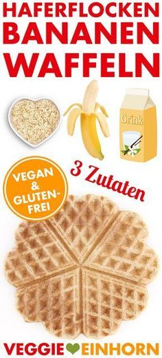 Delicious HEALTHY Waffles Only 3 ingredients Healthy WAFFLE RECIPE with oatmeal, bananas and soy milk vegan & gluten free EASY recipe with VIDEO The post Vegan Oatmeal Banana Waffles appeared first on Garden ideas - Health and fitness Yummy Oatmeal, Vegan Oatmeal, Oatmeal Recipes, Oatmeal Waffles, Vegan Sweets, Vegan Snacks, Vegan Desserts, Banana Waffles Healthy, Waffle Recipes