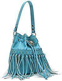 Black Friday Sale Fringe Hobo Drawstring Purse by TravelNut (Assorted Colors) boho fashion bag