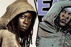 """13 """"Walking Dead"""" Characters Vs Their Comic Book Equivalents"""