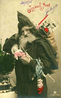 Papa Noel ~ 1910s French Christmas Postcard