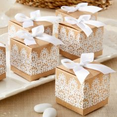 Rustic & Lace Kraft Favor Boxes 1 set of 24 = $17.95 5 sets of 24 = 13.95 = $69.75
