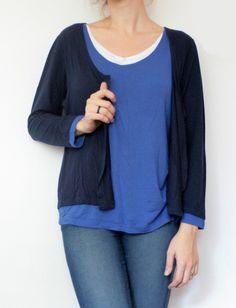 Bluza subtire care pare sa fie formata din 3 straturi Pullover, Sweaters, Fashion, Moda, Fashion Styles, Sweater, Fashion Illustrations, Sweatshirts, Pullover Sweaters