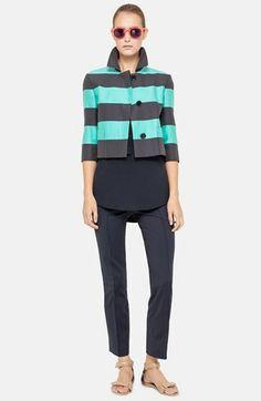 Akris punto Crop Jacket, Blouse & Crop Pants  available at #Nordstrom