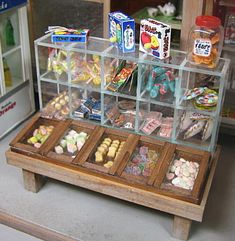 miniature candy stand