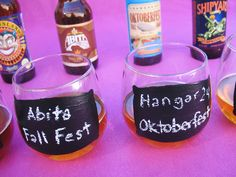 #DIY Chalkboard tasting glasses -- perfect for a fall beverage :) From @Julie King