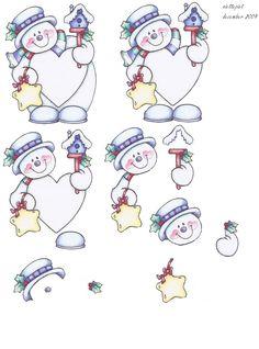 knipvel sneeuwman