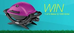 Win One Of Six Prizes Of A Weber Q 1200 Grill Worth $219! Expires:  June 11, 2015 Eligibility:  United States | 13+