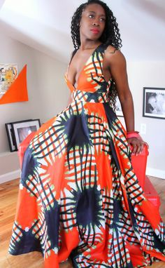 african print dress from somewhere