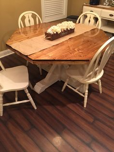 rustic octagon table. beautiful ideas. Home Design Ideas