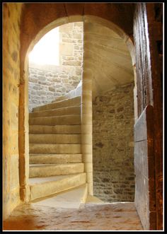 Inspiration for the stairs to the solar at Annossy in One Knight's Return, book 2 of the Rogues & Angels series of #medievalromances by #ClaireDelacroix